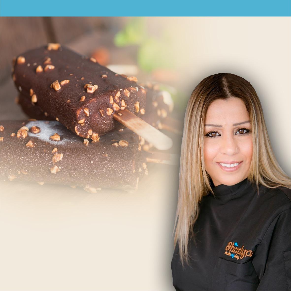 طريقة تحضير ايس كريم بطلاء الشوكولاتة